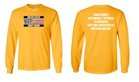 US Coast Guard Veteran Long-Sleeve Cotton Shirt- Morally- (FF)