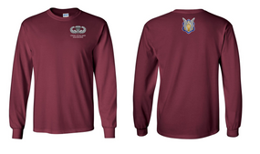 1-17th Cavalry (Crest) US Paratrooper Long-Sleeve Cotton Shirt