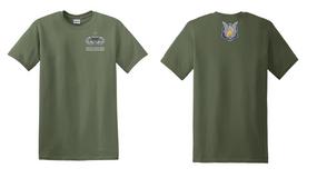 1-17th Cavalry (Crest) Senior Jumpmaster Cotton Shirt