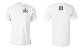 1-17th Cavalry (Crest) Senior Jumpmaster Moisture Wick Shirt