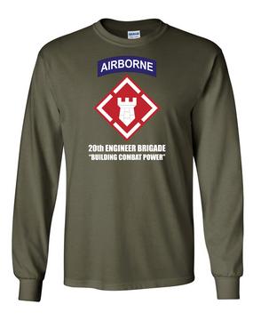 20th Engineer Brigade (Airborne) LS Cotton Shirt (FF)