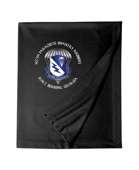 507th Parachute Infantry Regiment Embroidered Dryblend Stadium Blanket