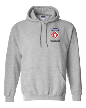 20th Engineer Brigade (Airborne) Embroidered Hooded Sweatshirt
