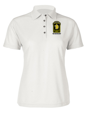 Ladies Wolfhounds Embroidered Moisture Wick Polo Shirt