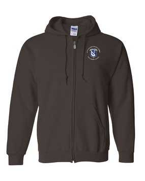507th Parachute Infantry Regiment Embroidered Hooded Sweatshirt with Zipper