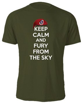 "1/508th Parachute Infantry Regiment ""Keep Calm"" Cotton Shirt"