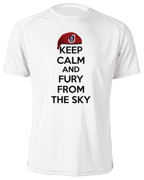 "1/508th Parachute Infantry Regiment ""Keep Calm"" Moisture Wick T-Shirt"