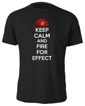 """2/319th Field Artillery  """"Keep Calm"""" Cotton Shirt"""