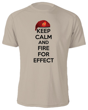 "4/319th Field Artillery  ""Keep Calm"" Cotton Shirt"