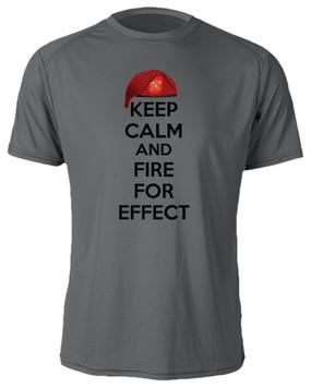"""2-319th Field Artillery """"Keep Calm"""" Moisture Wick T-Shirt"""