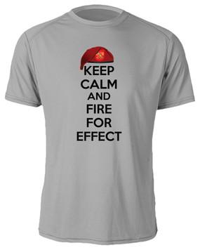 """3-319th Field Artillery """"Keep Calm"""" Moisture Wick T-Shirt"""