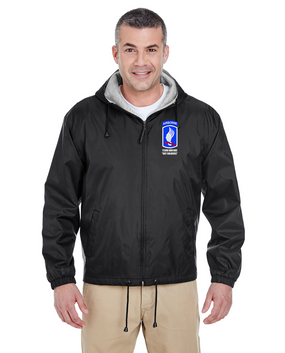 173rd Airborne Brigade Embroidered Fleece-Lined Hooded Jacket