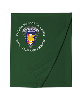 Southern European Task Force SETAF Embroidered Dryblend Stadium Blanket  (Crest)