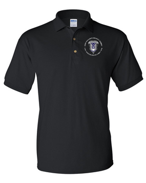503rd Parachute Infantry Regiment Embroidered Cotton Polo Shirt