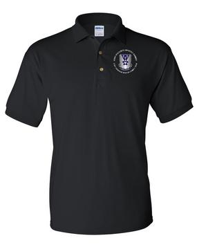 503rd Parachute Infantry Regiment Embroidered Cotton Polo Shirt  (Crest)