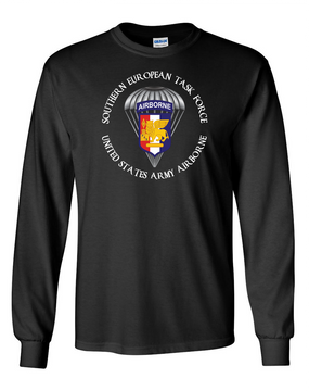 Southern European Task Force SETAF Long-Sleeve Cotton T-Shirt  (FF) Crest