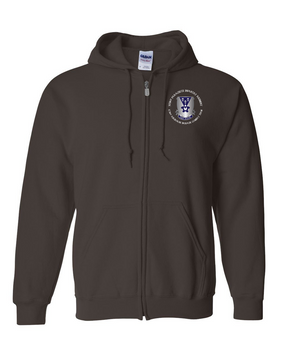 503rd Parachute Infantry Regiment Embroidered Hooded Sweatshirt with Zipper -Crest