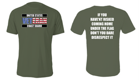 US Coast Guard Veteran Cotton Shirt- Flag Disrespect- (FF)
