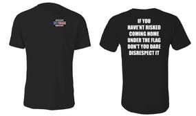US Marine Corps Veteran Cotton Shirt- Flag Disrespect- (P)