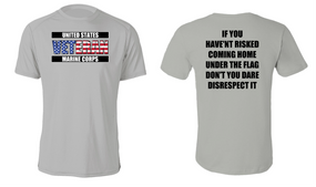 US Marine Corps Veteran Cotton Shirt- Flag Disrespect- (FF)
