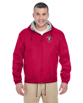 313th MI Battalion Embroidered Fleece-Lined Hooded Jacket