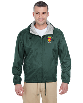 25th Infantry Division Embroidered Fleece-Lined Hooded Jacket