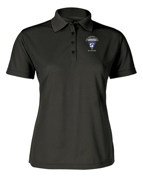 Ladies 18th Airborne Corps Embroidered Moisture Wick Polo Shirt  (C)