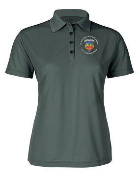 Ladies 3/73rd Armor  Embroidered Moisture Wick Polo Shirt-M