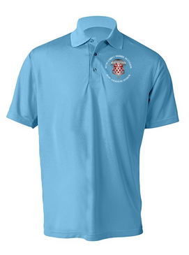 307th Engineers Embroidered Moisture Wick Polo-M