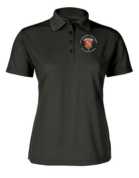 Ladies 319th Field Artillery Embroidered Moisture Wick Polo Shirt  (C)-M