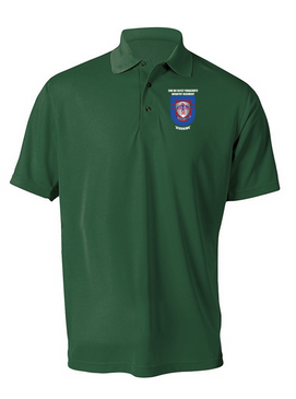 2-501st  Parachute Infantry Regiment Embroidered Moisture Wick Polo-M