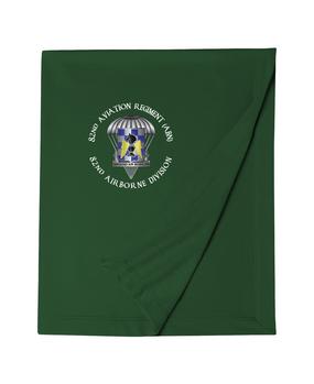 82nd Aviation Brigade Embroidered Dryblend Stadium Blanket-M