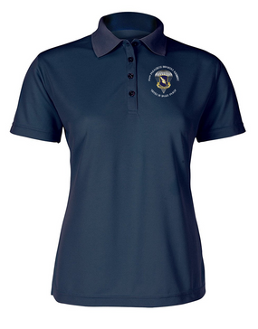 Ladies 504th Parachute Infantry Regiment Embroidered Moisture Wick Polo Shirt  (C)-M