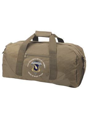 "504th ""Devils in Baggy Pants""  Parachute Infantry Regiment Embroidered Duffel Bag-M"