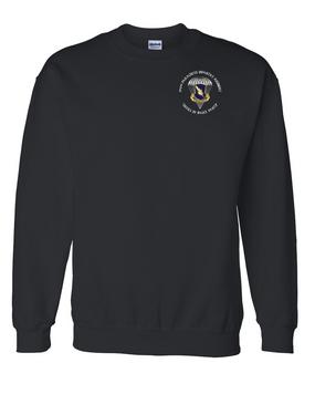 """504th PIR """"Devils in Baggy Pants"""" Embroidered Sweatshirt-M"""
