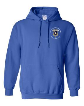 """504th PIR """"Devils in Baggy Pants"""" Embroidered Hooded Sweatshirt-M"""