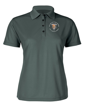 Ladies 82nd Signal Battalion Embroidered Moisture Wick Polo Shirt  (C)-M