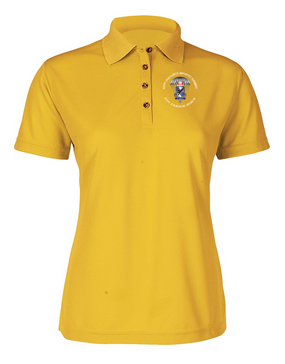 Ladies 505th Parachute Infantry Regiment Embroidered Moisture Wick Polo Shirt  (C)-M