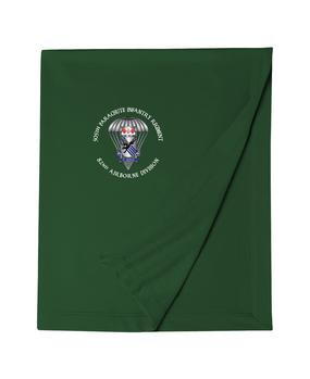 505th Parachute Infantry Regiment (Parachute) Embroidered Dryblend Stadium Blanket-M