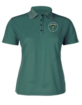 Ladies U.S. Army Civil Affairs Embroidered Moisture Wick Polo Shirt