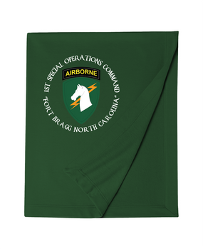 1st Special Operations Command (C) Embroidered Dryblend Stadium Blanket