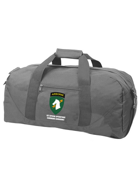 1st Special Operations Command (V) Embroidered Duffel Bag