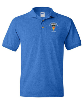 4th Brigade Combat Team (Airborne) Embroidered Cotton Polo Shirt  -Para