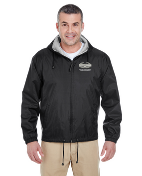 Combat Action Badge (CAB) Embroidered Fleece-Lined Hooded Jacket