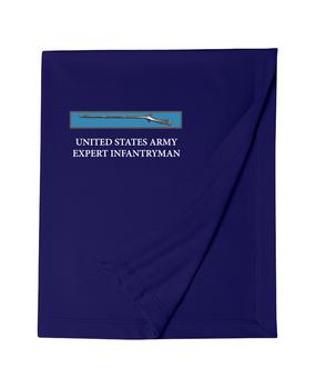 Expert Infantry Badge (EIB) Embroidered Dryblend Stadium Blanket
