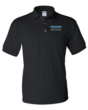 Expert Infantry Badge (EIB) Embroidered Cotton Polo Shirt