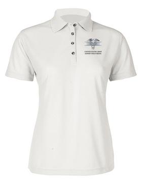 Expert Field Medical Badge (EFMB) Ladies Embroidered Moisture Wick Polo Shirt
