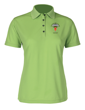 4th Brigade Combat Team (Airborne) Ladies Embroidered Moisture Wick Polo Shirt