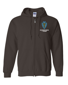 "36th Infantry Division ""T-Patchers"" Embroidered Hooded Sweatshirt with Zipper"