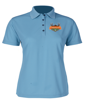 Bass & Bucks Ladies Embroidered Moisture Wick Polo Shirt